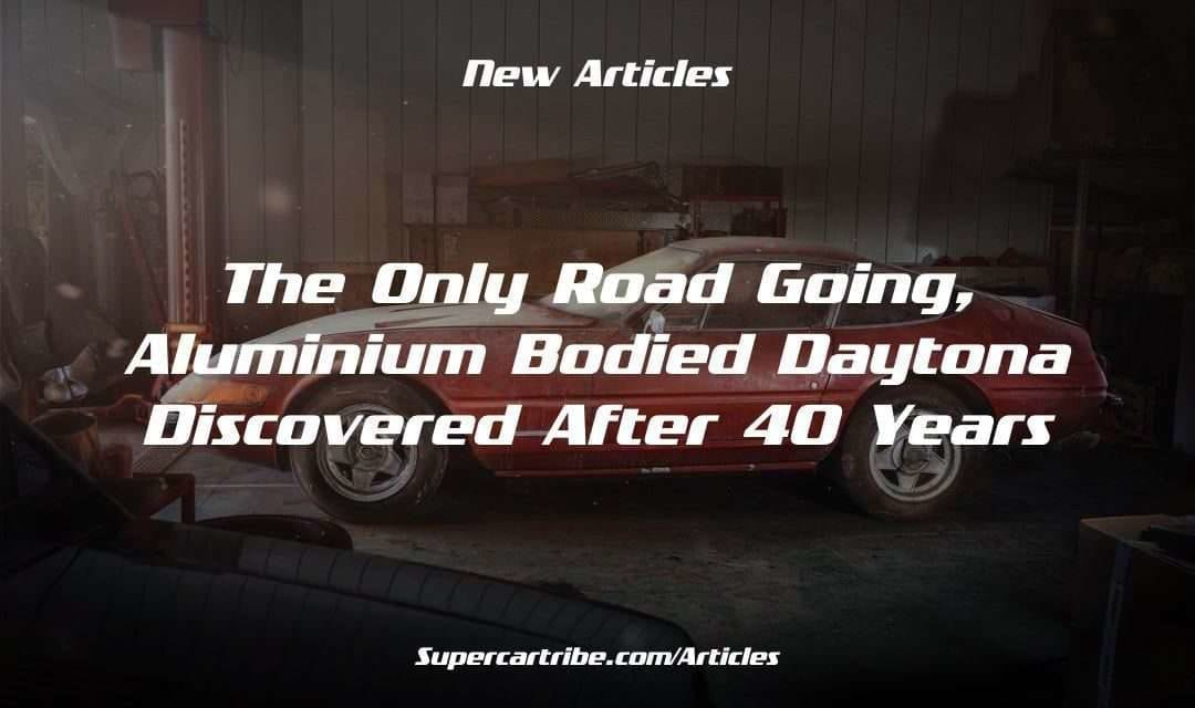 The only road going, Aluminium bodied Daytona discovered after 40 years