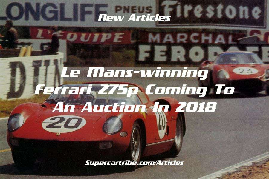 Le Mans-winning Ferrari 275P coming to an auction in 2018