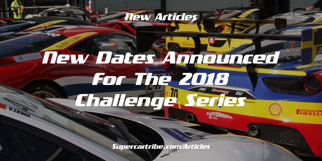 New dates announced for the 2018 Challenge series
