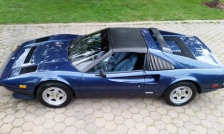 1983 Ferrari 308 GTS Quattrovalvole shows just 20,630 miles and is finished in Blue Sera over Blue leather (#45325)