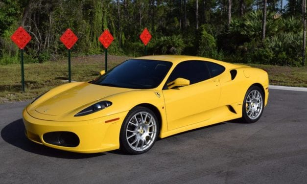 An unmodified example 2005 Ferrari F430 Berlinetta F1 with just under 11k miles (#42524)