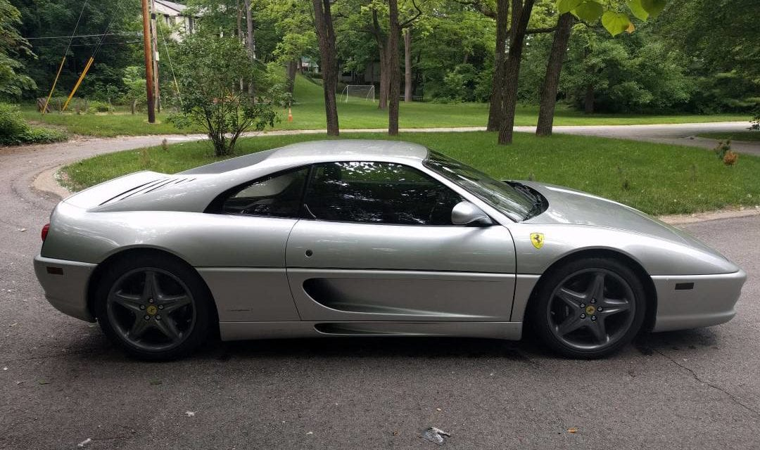 1995 Ferrari F355 Belinetta shows 44k miles and is a 6-speed manual (#101040)