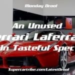 Monday Motivation –  An unused Ferrari LaFerrari in tasteful spec