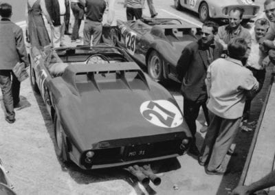Chassis no. 0798 lined up for the start of the 1962 24 Hours of Le Mans.