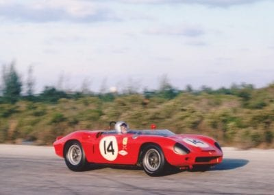 Chassis no. 0798 at speed during the 1963 Bahamas Speed Weeks.