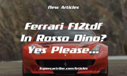 Ferrari F12TDF in Rosso Dino? Yes please…