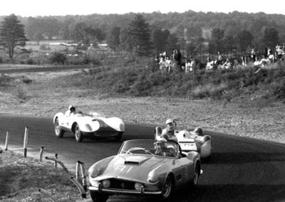 Grossman at the wheel of 1451 GT at Thompson in 1959.