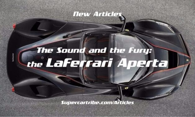 The Sound and the Fury: the LaFerrari Aperta