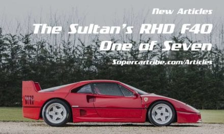 The Sultan of Brunei's RHD Ferrari F40. One of Seven