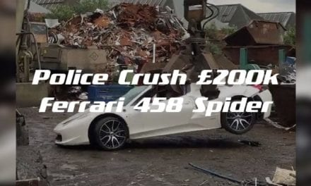 Police Crush £200k Ferrari 458 Spider