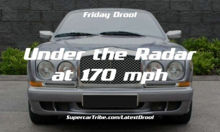 Friday Drool – Under the Radar at 170 mph