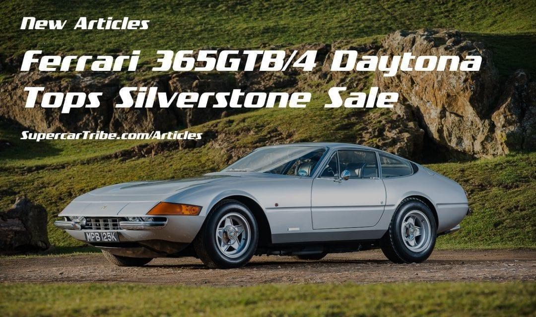 Ferrari 365GTB/4 Daytona Tops Silverstone Sale