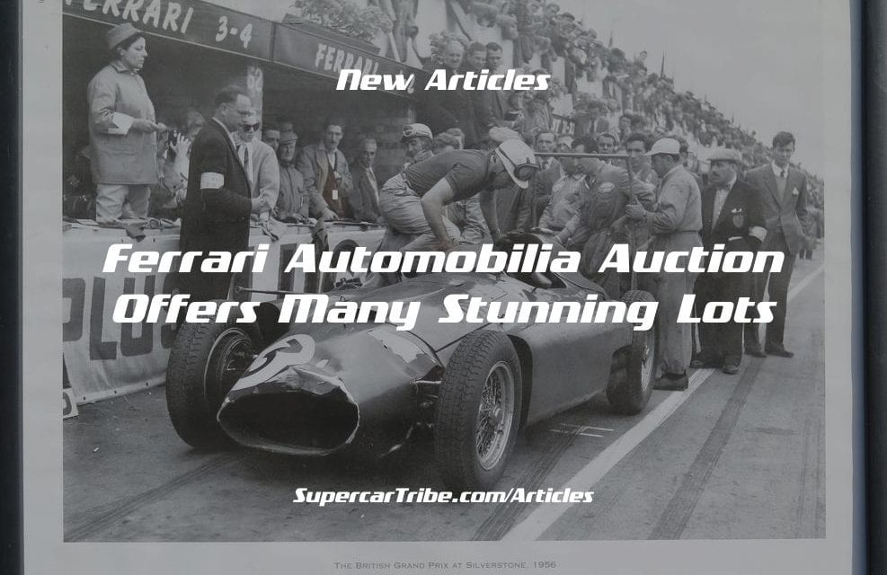 Ferrari Automobilia Auction Offers Many Stunning Lots