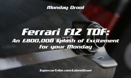 Monday Drool – Ferrari F12 TDF: An £800,000 Splash of Excitement for your Monday