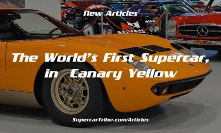 Friday Drool – The World's First Supercar, in Canary Yellow