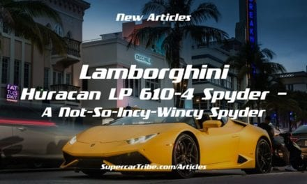 Lamborghini Huracan LP 610-4 Spyder – A Not-So-Incy-Wincy Spyder