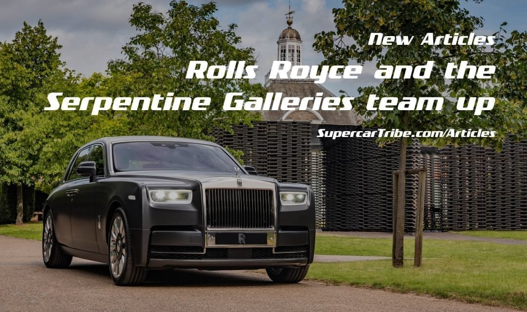 Rolls Royce and the Serpentine Galleries team up