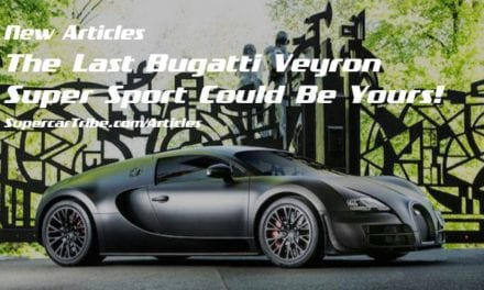 The Last Bugatti Veyron Super Sport Could Be Yours!