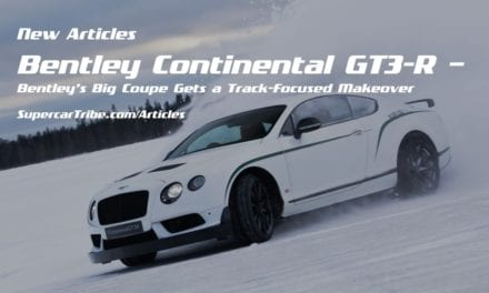 Bentley Continental GT3-R – Bentley's Big Coupe Gets a Track-Focused Makeover