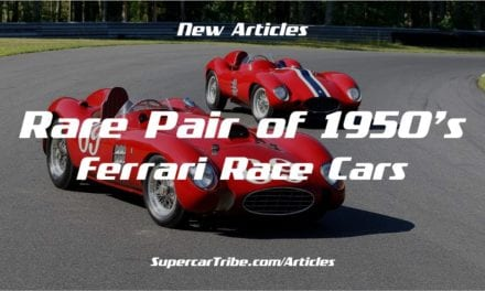 Rare Pair of 1950's Ferrari Race Cars