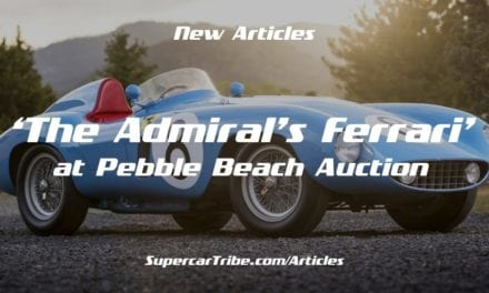 'The Admiral's Ferrari' at Pebble Beach Auction