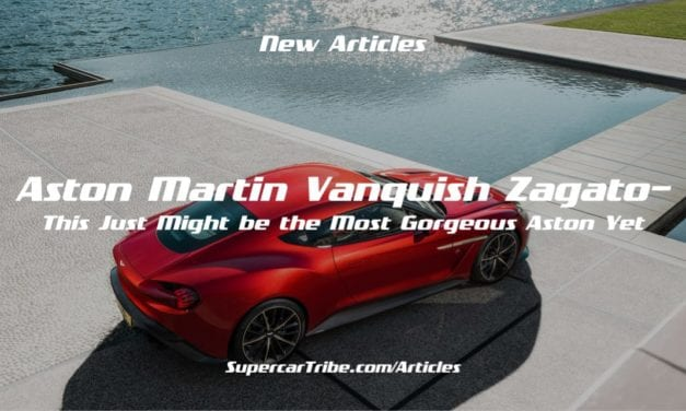 Aston Martin Vanquish Zagato– This Just Might be the Most Gorgeous Aston Yet