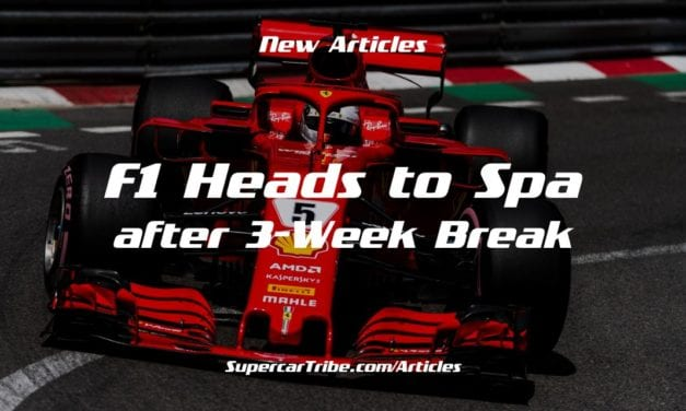 F1 Heads to Spa after 3-Week Break