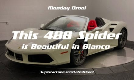 Monday Drool – This 488 Spider is Beautiful in Bianco