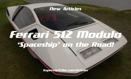 Ferrari 512 Modulo 'Spaceship' on the Road!
