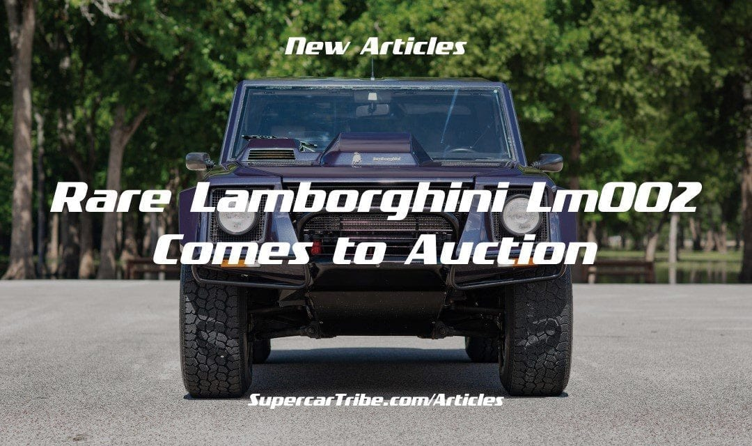 Rare Lamborghini LM002 Comes to Auction