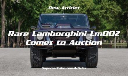 Rare Lamborghini LM002 Comes to Auction