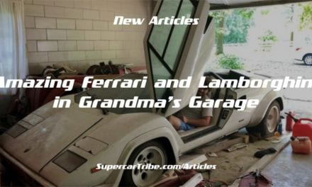 Amazing Ferrari and Lamborghini in Grandma's Garage
