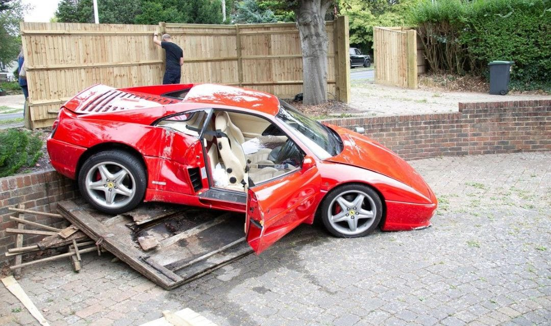 Ferrari F355 Crashes on the Way to Goodwood Revival