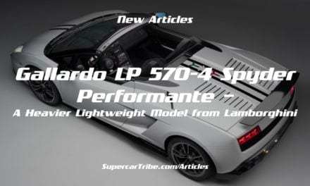 Gallardo LP 570-4 Spyder Performante – A Heavier Lightweight Model from Lamborghini