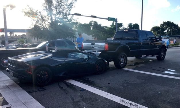 Crazy Lamborghini crash in Miami caught on camera