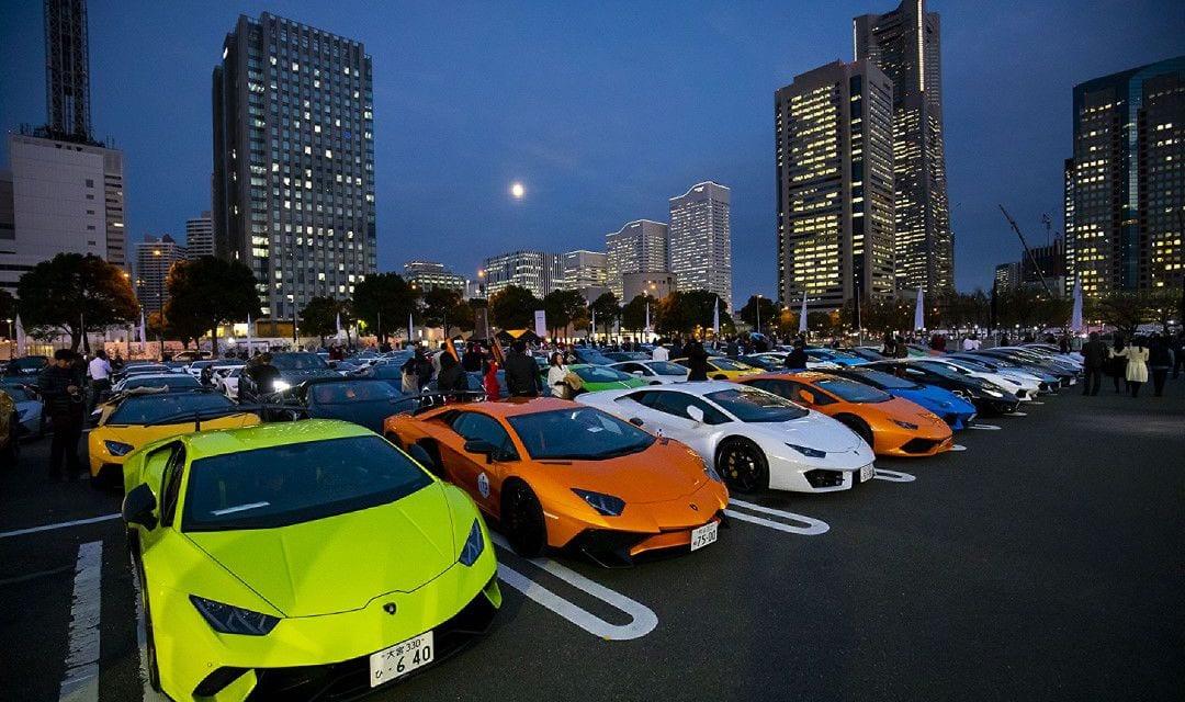 200 Supercars Assemble for Lamborghini Day Japan