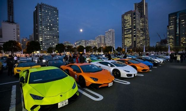 200 Supercars Assemble for Lamborghini Day Japan