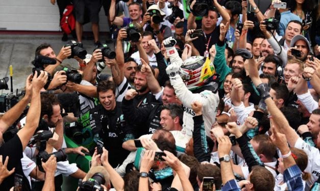 Hamilton Wins as Verstappen Collides