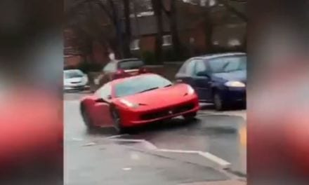 Speeding Ferrari in Christmas Day Police Chase