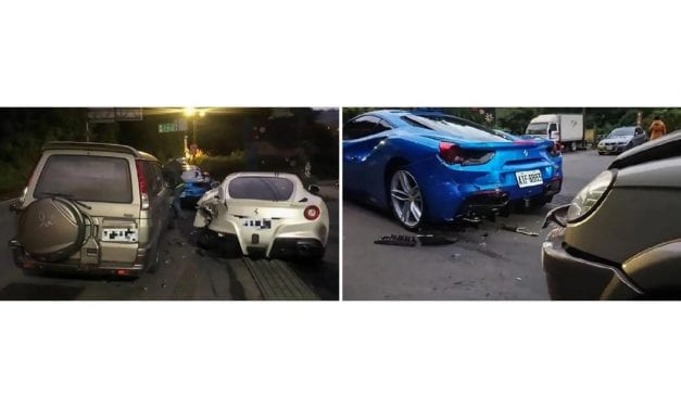 Delivery Driver Asleep at the Wheel Destroys 4 Ferraris