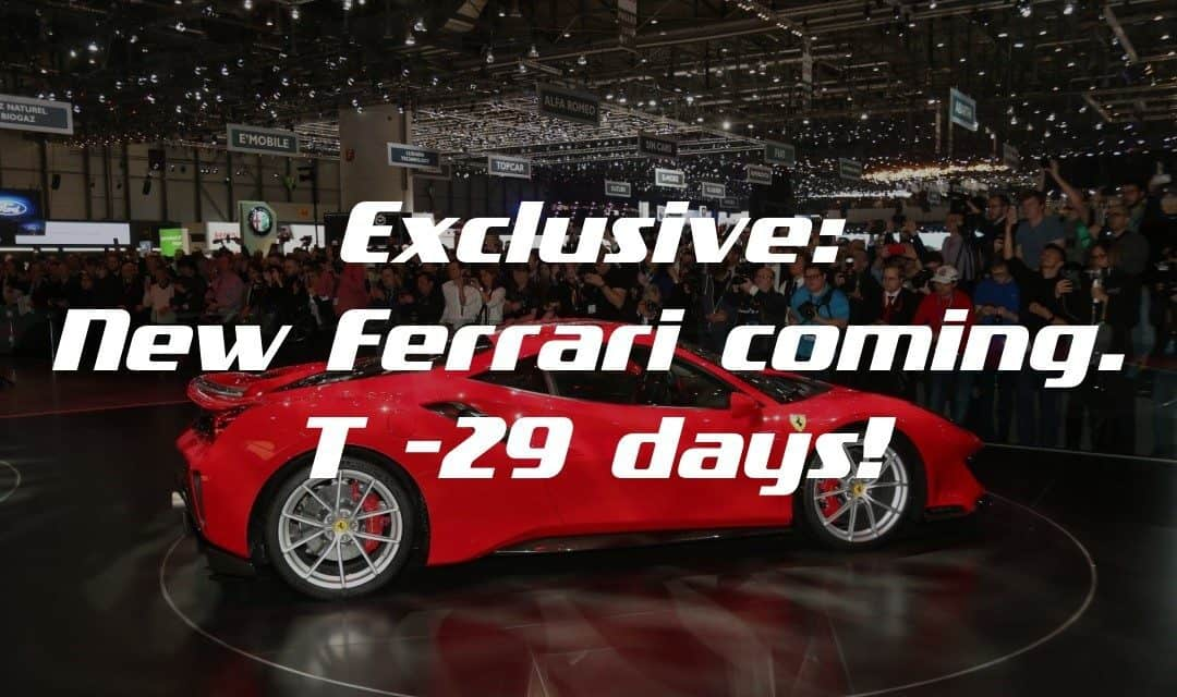 Exclusive: New Ferrari Coming! T-29 Days!