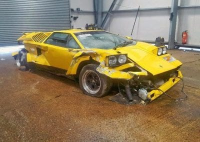 Wrecked Lamborghini Countach 25th 0009