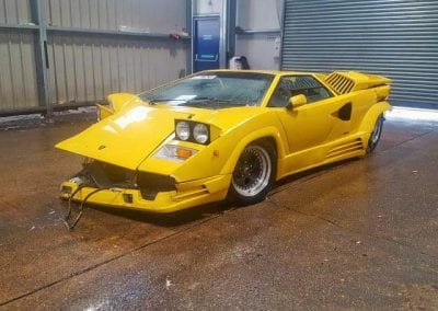 Wrecked Lamborghini Countach 25th 0012