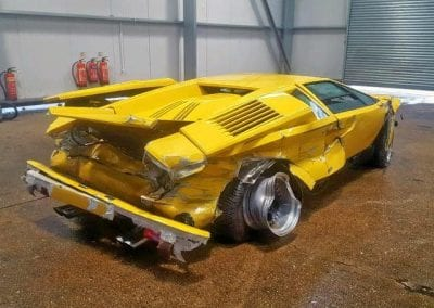 Wrecked Lamborghini Countach 25th 0013