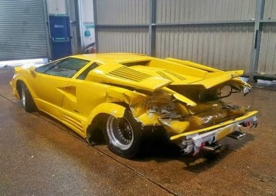 Wrecked Lamborghini Countach 25th 0015