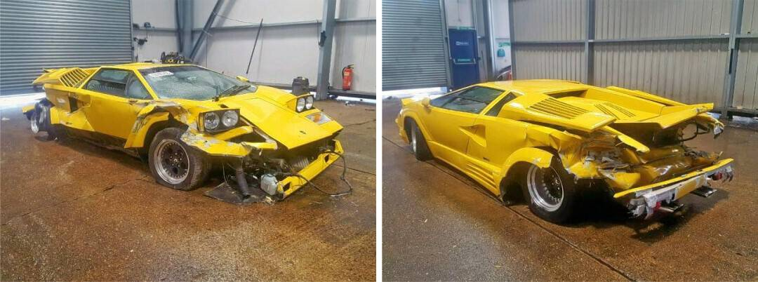 Wrecked Lamborghini Countach 25th Anniversary Edition – Good for Spares Only?