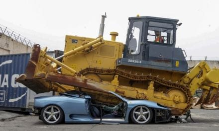 Ferrari 360 Spider Crushed by Philippines Government