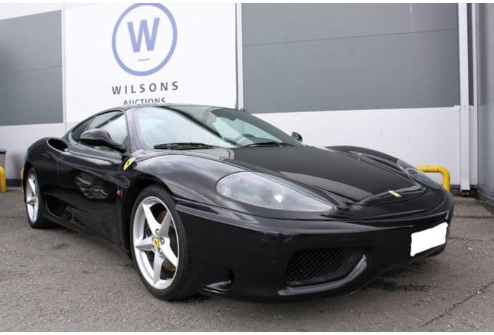 Confiscated Ferrari 360 Modena Among Government Auction Lots