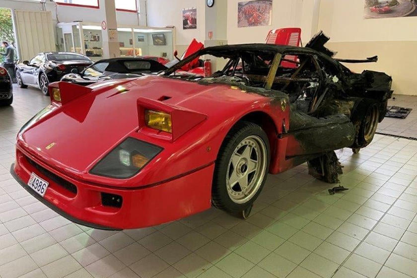 Burned Out Ferrari F40 Gets a Full Restoration