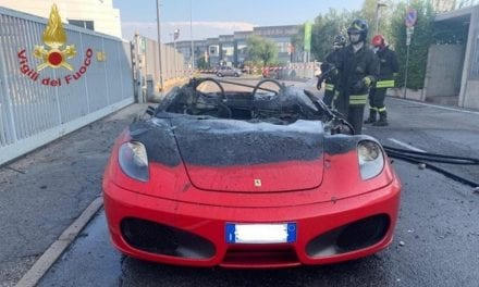 Ferrari F430 Catches Fire Shortly After Leaving Showroom